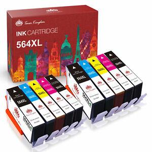 10PK +Chip For HP Printer 564XL 564 Ink Cartridge Photosmart 6510 6520 7510 7520