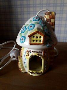 Vintage Child's/childrens Night Light Lamp Studio Pottery Goldilocks and 3 bears