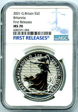 2021 GREAT BRITAIN 1OZ SILVER BRITANNIA NGC MS70 FIRST RELEASES - NEW SECURITY