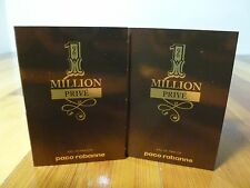 PACO RABANNE ONE MILLION  PRIVE  EAU  PARFUM  spray sample size 1.5 ml  2 Sampes
