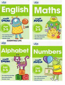 Letts Preschool books Educational Books Maths English Alphabet Numbers Age 3+