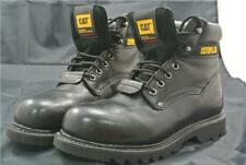 CATERPILLAR ANKLE BOOTS SIZE 9UK SHOES CAT WORK BLACK LEATHER STEEL TOE CAP