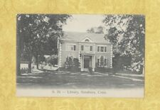 CT Simsbury 1901-07 UDB postcard LIBRARY CONN pub by Foote of Canton Center
