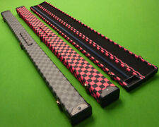 3/4 Snooker Cue case / Pool cue case - Checkered design - Foam lined - FREE P&P