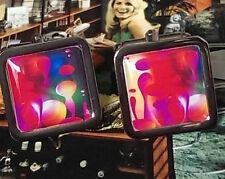 Unique LAVA LAMP CUFFLINKS retro DESIGNER groovy MATHMOS disco 70's vintage GIFT