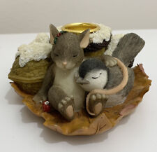 Charming Tails Dean Griff-Silent Night Candle Holder 93/451 Fitz & Floyd
