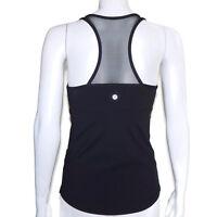 LULULEMON Black Racer Back Mesh Tank Top Womens size 8 Yoga Gym - 5101