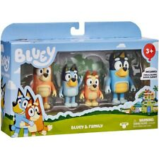 Bluey and Family 4 Figure Pack Toy Figurines Bingo Bandit Chilli