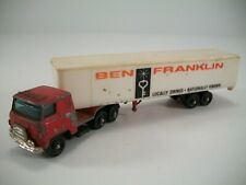 Vintage Yat Ming City Products Corp Ben Franklin Semi Trailer Die Cast Metal