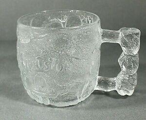 Vintage 1993 McDonalds Flintstones Rocky Road Glass Mug Cup France SHIPS FREE