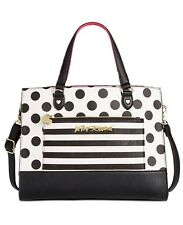 Betsey Johnson Polka dot Tote with optional shoulder strap, NEW with Tags