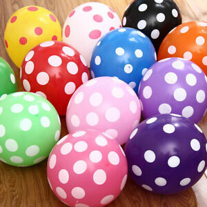 5/10PC of 12 Inch Colorful Polka Dot Balloon Birthday Wedding Party Decoration