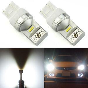 JDM ASTAR 2x 6-SMD 7443 7440 White LED Turn Signal Backup Reverse Lights Bulbs