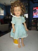 "1950's Ideal 17"" Vinyl Shirley Temple Doll tlc"