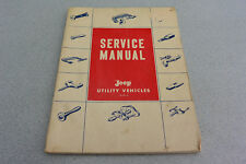 L6 F4 Engines JEEP UTILITY Factory Repair Shop Manual 1959 OEM