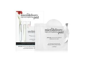 NEW IN BOX 12 COUNT PHILOSOPHY TRIPLE ACID BRIGHTENING MICRODELIVERY PEEL PADS