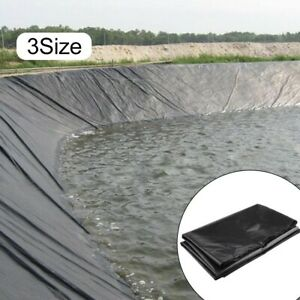 Fish Pond Liners Underlay Garden Pool Landscaping Reinforced HDPE Black 3 Size