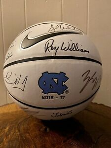 UNC 2017 National Championship Team Signed Basketball