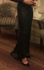 Joseph Stretch Leather Skirt  Pencil Asymmetric Maxi Prom Size 36 FR UK 8 US 2