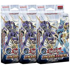 Synchron Extreme X 3 Sealed 1st Ed Structure Decks YuGiOh English