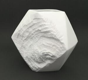 Mid Century OP ART Vase 275/17-  matt - Relief Fossil AK Kaiser - 60er Jahre