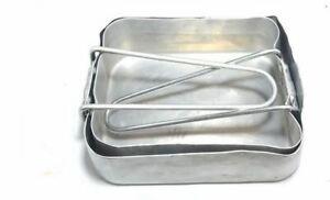 Original set of 2 x British army surplus mess tins / camping pans