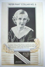 Vintage 1920's 1930's Peter Pan Collar No 5 kit Bias Fagoting tape, floss, diagr