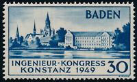 FZ BADEN, MiNr. 46 II, postfrisch, Fotobefund Schlegel, Mi. 650,-