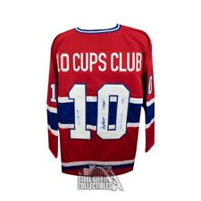 Montreal Canadiens Autographed 10 Cups Club Custom Hockey Jersey - JSA LOA