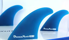 Surfboard Fins PG5 FCS Compatible Blue Surfing NEW Twin Tab THRUSTER (set of 3).