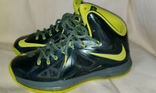 2012 Nike Lebron X Size 9 Seaweed Atomic Green Dunkman James 541100-300