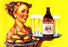 RETRO PINUP GIRL QUALITY CANVAS PRINT Poster Gil Elvgren Sexy Waitress