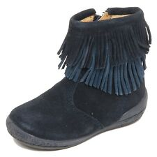 F7356 stivale bimba girl baby NATURINO vintage blue suede shoe boot