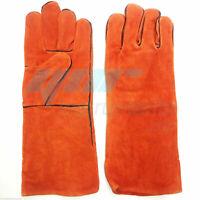 YNR® Snake Catcher Gloves Reptile Lizards Animal Handling Gloves Heavy Duty Oran