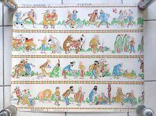Ancien Papier peint Tintin années 60' Format 67 cm x 55 cm TRES BON ETAT