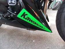 2 x Kawasaki Aufkleber - in NEON Grün - Größe: 31,3 x 7,7cm