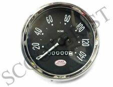 Speedometer Jawa Logo CZ Motorcycle 0-140 km Black Face