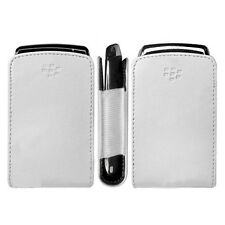 BLACKBERRY PHONE AUTHENTIC WHITE LEATHER CASE SLIM POCKET POUCH COVER SLEEVE OEM