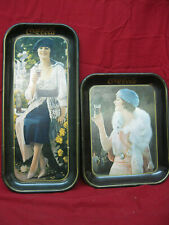 """Pair Vintage """"Drink Coca-Cola"""" Trays From the 1970's Coke Advertisement"""