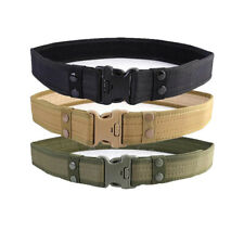 Men's Casual Military Tactical Belt Army Combat Waistband Rescue Rigger Belts
