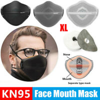 Reusable Face Mask Carbon Filter Mouth Nose Separate Washable Mask Anti Haze Fog
