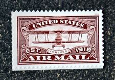 2018USA #5282 Forever United States Air Mail Centenary - Red  Mint  airplane