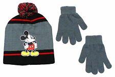 MICKEY MOUSE DISNEY JUNIOR CLUBHOUSE Beanie Hat & Gloves Set w/ Pom-Pom NWT  $20