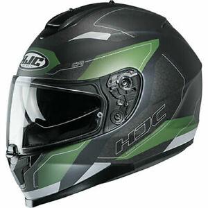 HJC C70 CANEX GREEN BLACK FULL FACE MOTORCYCLE MOTORBIKE HELMET ALL SIZES