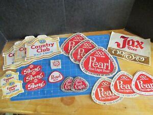 1969-80 Pearl beer 19  Patch set  - San Antonio Texas - Unused 3 Stickers