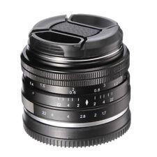 35mm f/1.7 Manual Focus MF Lens for Olympus Panasonic Micro M4/3 Mount Camera