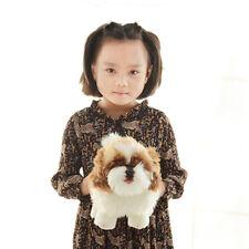 Realistic Anime Shih Tzu Dog Plush Toys Stuffed Mini Animals Dog Doll 20cm 7inch