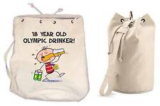 OLYMPIC DRINKER 18th BIRTHDAY DUFFLE BAG - Gift Present Backpack