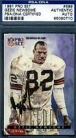 OZZIE NEWSOME HOF SIGNED PSA/DNA 1991 PRO SET CERTIFIED AUTOGRAPH AUTHENTIC