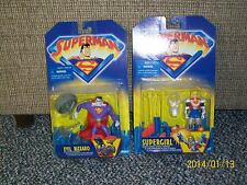 Kenner Superman Animated Intrntnl Cards-Bizzaro, Supergirl, Metallo, +3 Superman